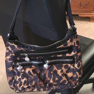 "Brighton ""Bobbi"" Le Satchel Leopard purse"